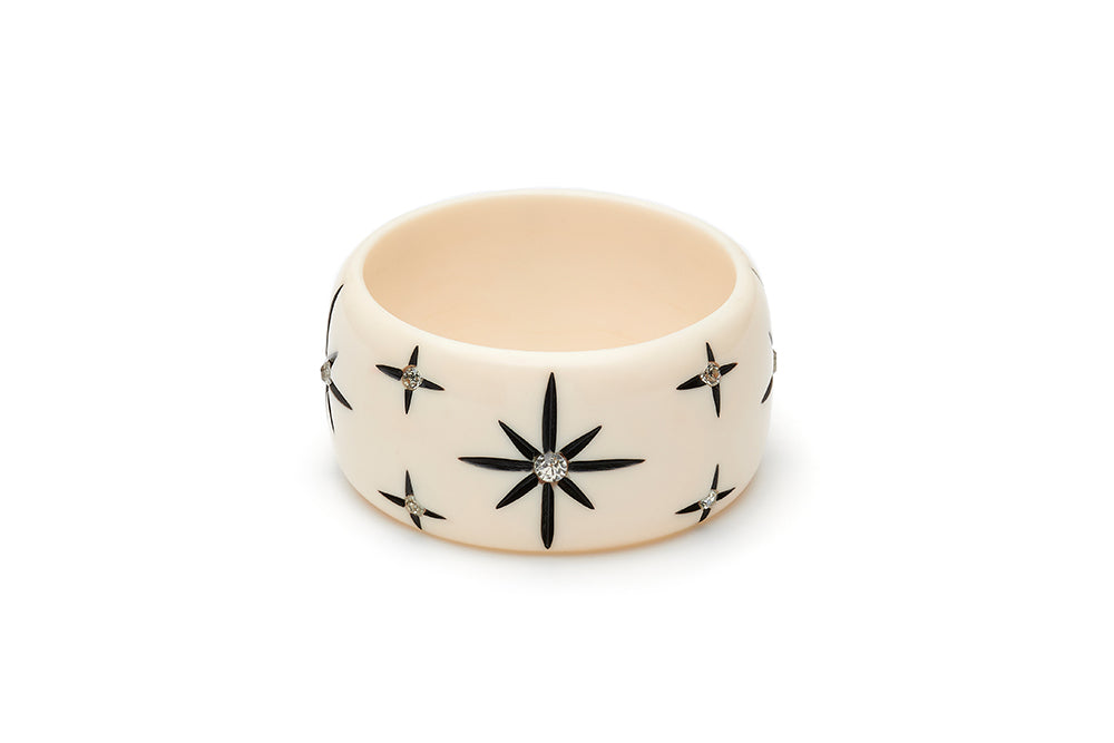 Extra Wide Ivory Starburst Maiden Bangle