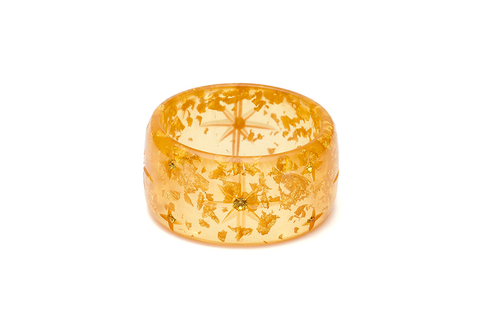 Extra Wide Gold Foil Starburst Maiden Bangle