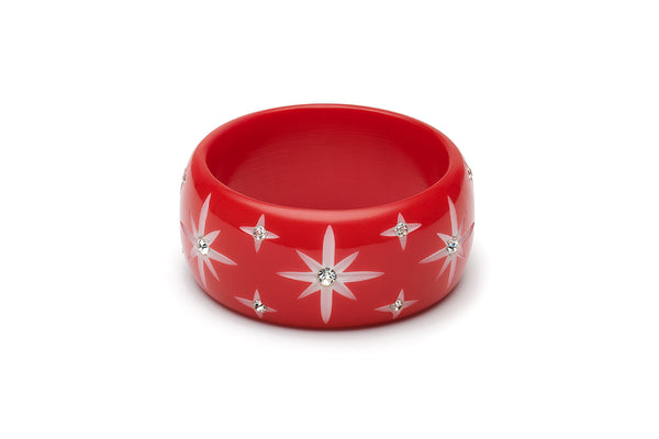 Extra Wide Red Starburst Maiden Bangle