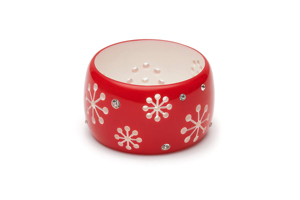 Tonttu Red Extra Wide Atomic Snowflake Duchess Bangle