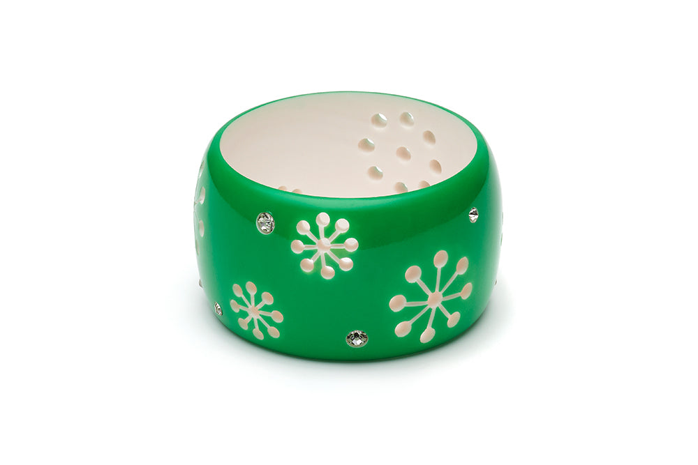 Garland Green Extra Wide Atomic Snowflake Maiden Bangle