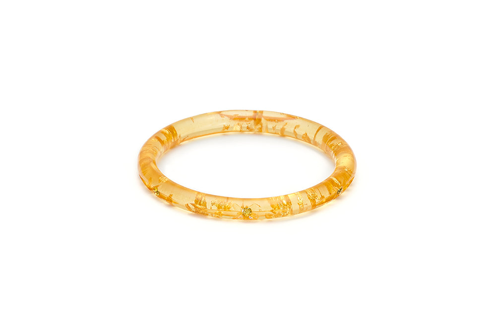 Narrow Gold Foil Starburst Maiden Bangle