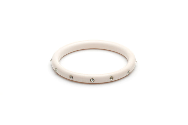 Narrow White Diamante Maiden Bangle
