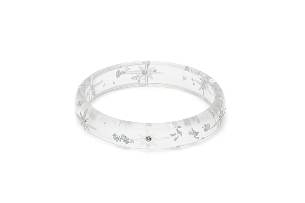 Midi Silver Foil Starburst Duchess Bangle