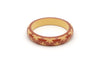 Splendette vintage inspired 1950s style brown carved Duotone fakelite Midi Café carved Bangle in Classic size