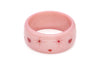 Splendette vintage inspired 1950s style Valentine's pink Extra Wide Sweetheart Starburst Bangle in larger Duchess size