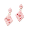 Splendette vintage inspired 1950s style Valentine's pink Sweetheart Starburst Earrings
