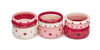 Splendette vintage inspired 1950s style Valentine's pink Sweetheart Starburst Bangles, red Heartthrob and white Secret Admirer Starburst Bangles in three stacks