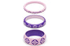 Clematis and Violet Set of 3 Duchess Bangles