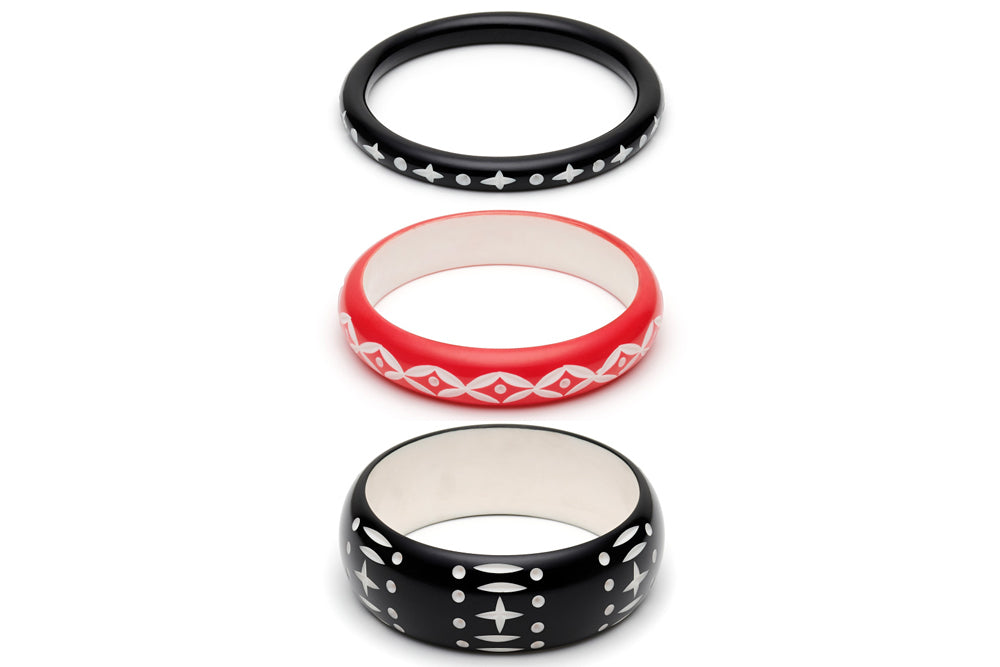 Hater and Lover Set of 3 Duchess Bangles