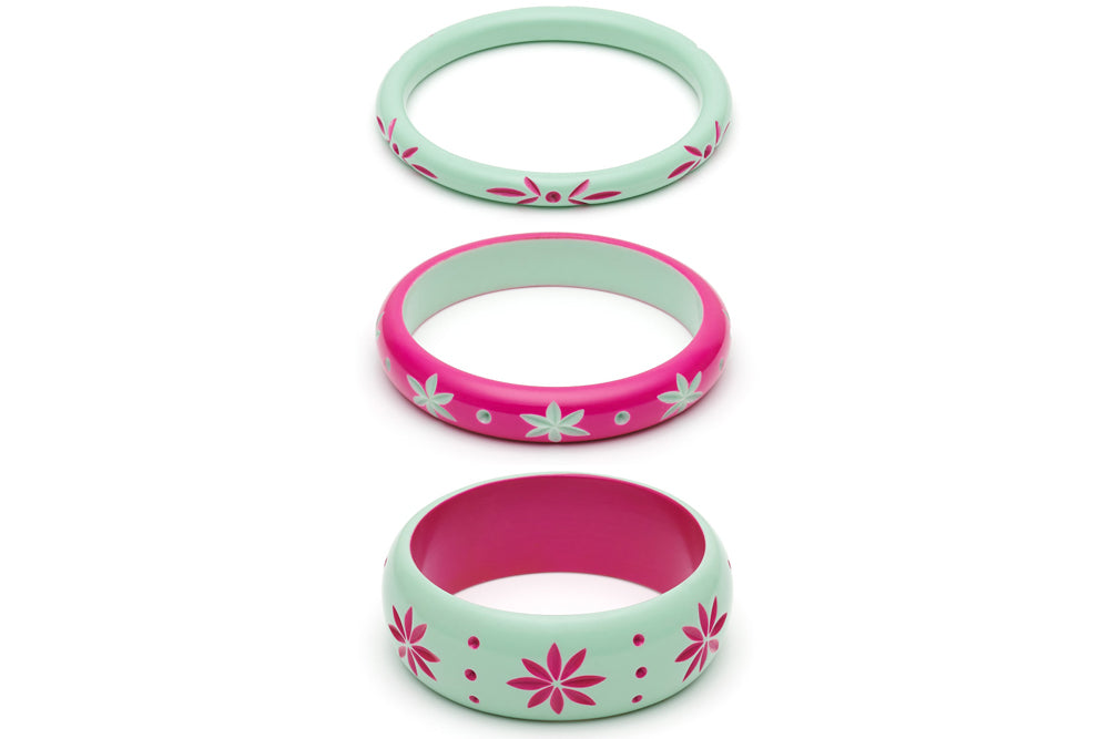 Parrot and Flamingo Set of 3 Duchess Bangles