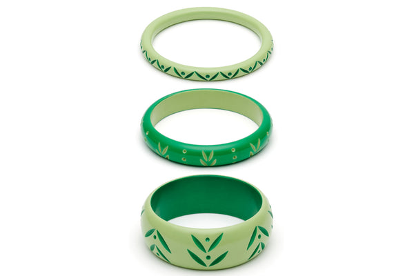 Spring and Summer Set of 3 Duchess Bangles