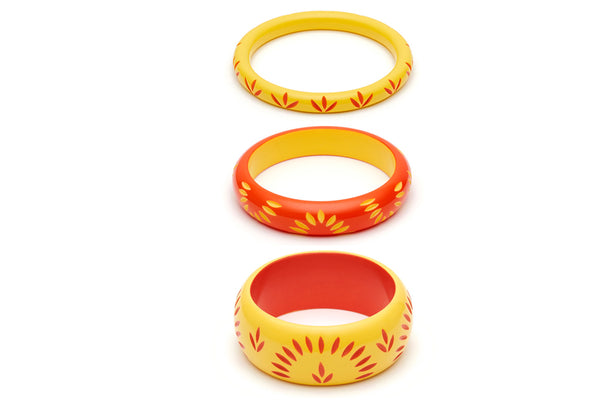 Sunrise and Sunset Set of 3 Bangles