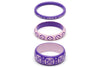Violet and Clematis Set of 3 Duchess Bangles