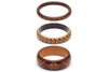 Walnut and Almond Set of 3 Duchess Bangles
