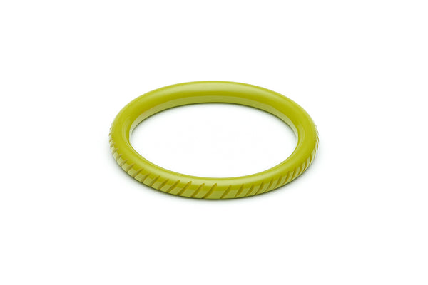 Narrow Chartreuse Fakelite Bangle