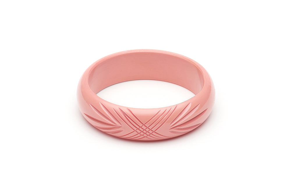Wide Pale Pink Fakelite Bangle