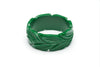 1940s style forest green heavy carve wide bangle