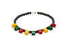 Multicoloured Curved Fakelite Bead Necklace