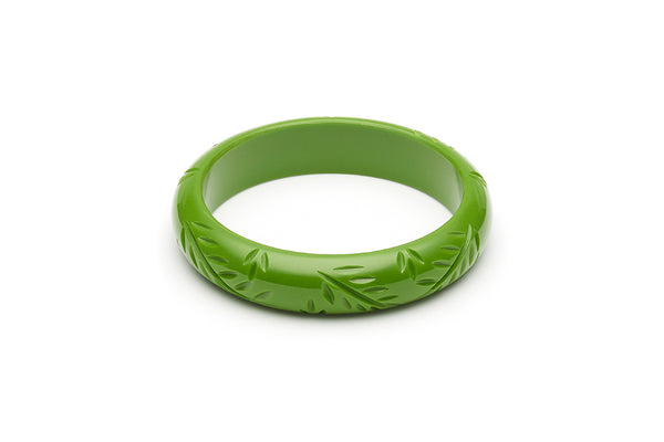 Midi Leaf Green Fakelite Bangle