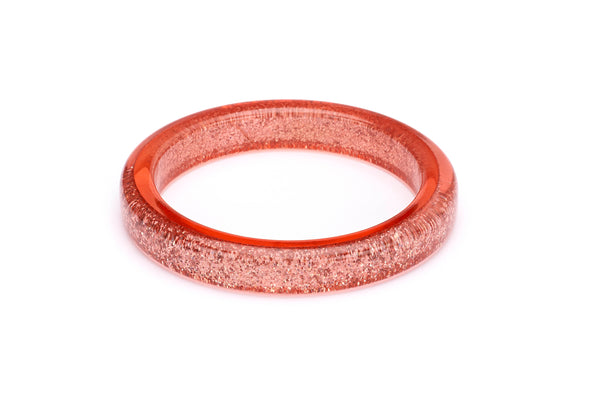 Splendette vintage inspired 1950s pin up style Peachy Glitter Bangle in Classic size