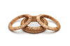 Set of 3 Light Woven Bamboo Bangles