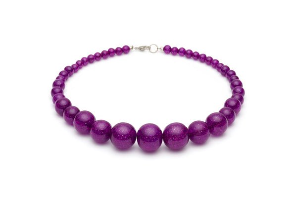 Purple Glitter Bead Necklace