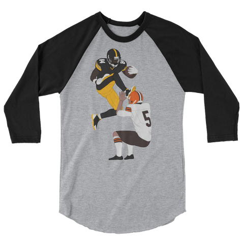 The Kick 3/4 sleeve raglan shirt