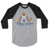 King Slayer 3/4 sleeve raglan shirt