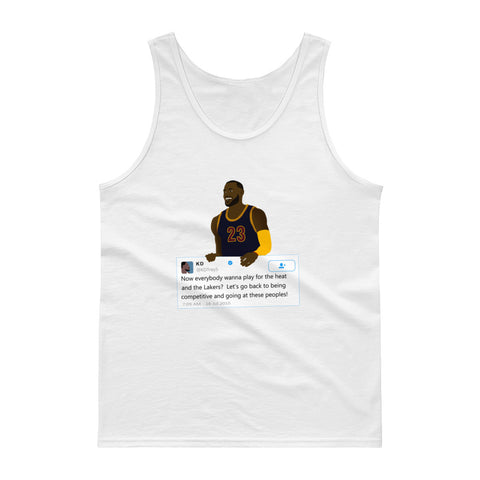LeBron James holding Kevin Durant Tweet - Tank top