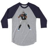 SuperCam 3/4 sleeve raglan shirt