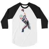 Gronk Smash 3/4 sleeve raglan shirt