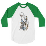 Baby Faced Assassin 3/4 sleeve raglan shirt