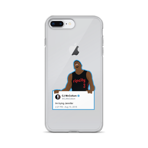 Im Trying Jennifer - iPhone Case