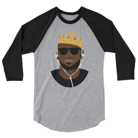 The King's Crown 3/4 sleeve raglan shirt
