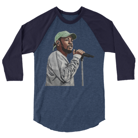 Poetic Justice 3/4 sleeve raglan shirt