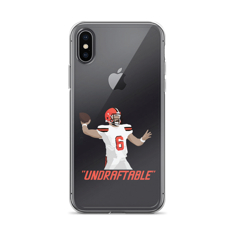 "Baker Mayfield ""Undraftable"" - iPhone Case"