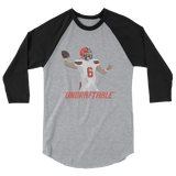 "Baker Mayfield ""Undraftable"" - 3/4 sleeve raglan shirt"
