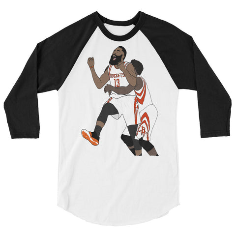 The Bearded Man 3/4 sleeve raglan shirt