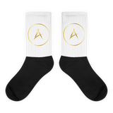 A-List Black foot socks
