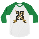 23 Swords 3/4 sleeve raglan shirt
