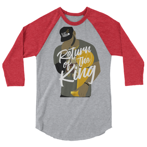 Return of the King 3/4 sleeve raglan shirt