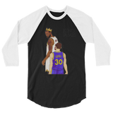 King James 3/4 sleeve raglan shirt