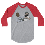 Punched on Memorial Day 3/4 sleeve raglan shirt