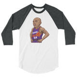 CharlesB Cartoon 3/4 sleeve raglan shirt