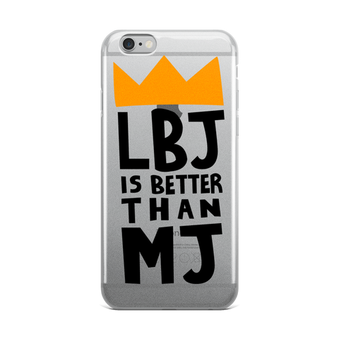 LBJ > MJ - iPhone Case