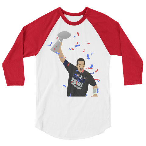Champs! 3/4 sleeve raglan shirt