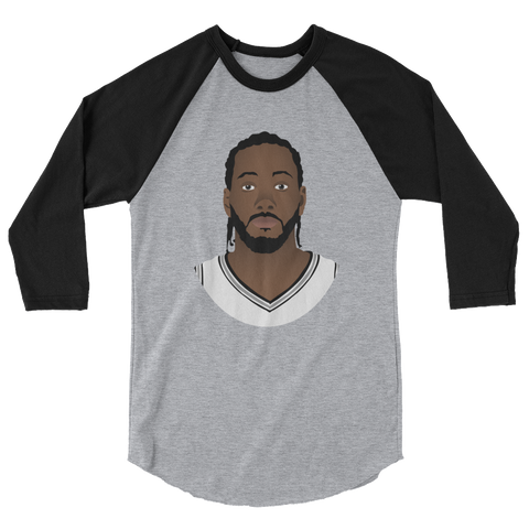 Kawhi So Serious? 3/4 sleeve raglan shirt