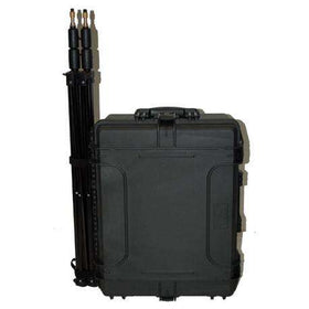 Robust case with external tripods attach