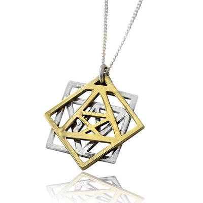 Adam and Eve Kabbalah Pendant by HaAri - HA'ARI JEWELRY Hand-crafted Kabbalah & Jewish jewelry